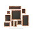 set of gold frames cinema vector image vector image