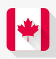 Simple flat icon Canada flag vector image vector image