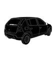 sketch of modern car technical draw vector image vector image