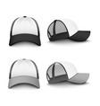 snapback baseball cap mockup set from front and vector image vector image