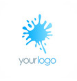 splash water logo vector image vector image