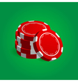 Stack Red Poker Casino Chips vector image