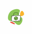 suitcase icon with a check mark image vector image vector image