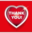 Thank You card heart vector image