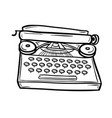 typewriter in doodle style vector image vector image