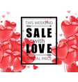 valentines day advertising sale black vector image vector image