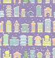 Winter city seamless pattern Snowfall Skyscrapers vector image vector image