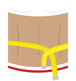 woman body with measuring tape vector image