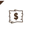 wooden alphabet blocks with dollar symbol in wood vector image vector image