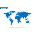 world map on gray background stylish vector image vector image