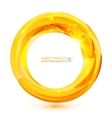 yellow crystal abstract round frame vector image vector image