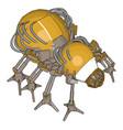 yellow robot bug on white background