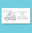 business card for construction company vector image