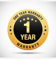 1 year warranty golden badge
