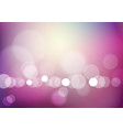 abstract bokeh light on blurred purple background vector image