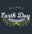 april 22 world earth day logotypes set vector image
