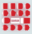 bahrain national colors insignia icons set vector image vector image