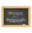 blackboard with chalk and bright color letters on vector image vector image