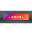 button for online sale banner web template vector image vector image