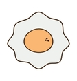 cartoon fried egg nutrition breakfast vector image vector image