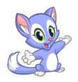 cartoon funny cat vector image vector image