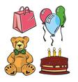 celebration items vector image