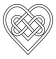 celtic knot rune bound hearts infinity symbol vector image vector image
