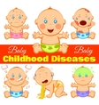 Childhood Diseases Background vector image