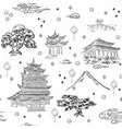 chinese landscape seamless pattern background with vector image vector image