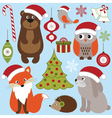 Christmas Woodland Animals vector image vector image