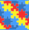colorful jigsaw seamless puzzle pattern autism
