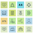 communication icons set with group member vector image vector image