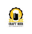 Craft Beer Logo Design Template With Pint vector image vector image