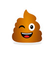cute funny poop emotional shit icon vector image vector image