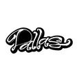 dallas sticker modern calligraphy hand lettering vector image vector image