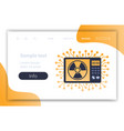 digital appliance microwave oven radiation danger vector image