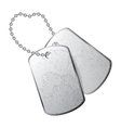 dog tag vector image vector image
