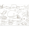 Educational game coloring book underwater life vector image vector image