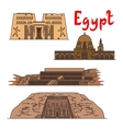 Egypt historic landmarks and sightseeings vector image vector image