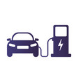 electric car icon electric vector image