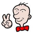 elegance happy man vector image