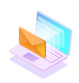 email notification concept new email vector image vector image
