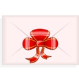 Envelop with red bow vector image vector image