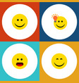 flat icon expression set of wonder have an good vector image vector image