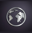 Flat metallic logo Earth vector image vector image