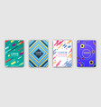 four colorful covers collection in flat design vector image vector image