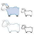 funny sheep in different styles vector image vector image