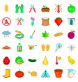 glove icons set cartoon style vector image vector image
