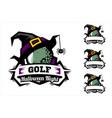 golf ball halloween logo vector image