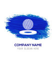 golf design icon - blue watercolor background vector image vector image